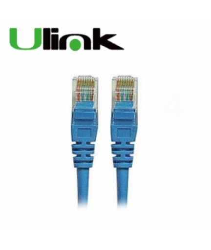 CABLE RED ULINK CAT5E 1MT AZUL