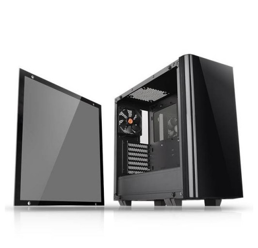 Thermaltake View 21 Tempered Glass Edition CA-1I3-00M1WN-00 No Power Supply ATX Mid Tower (Black)