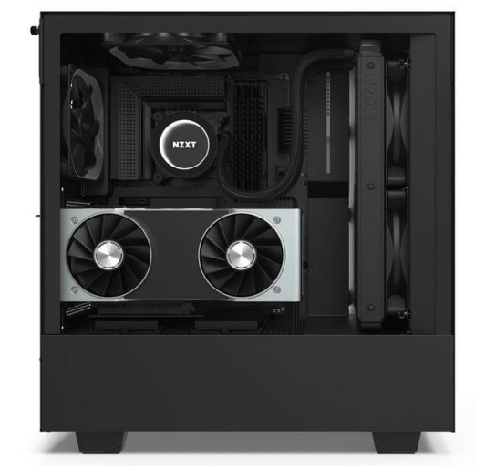 NZXT CA-H510I-B1 Compact Mid-Tower with Lighting and Fan Control (matte black)
