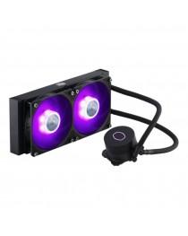 CoolerMaster MASTERLIQUID ML240L V2 RGB, AIO  3rd Gen Dual Chamber Pump, 240 Radiator, SickleFlow 120mm for AMD Ryzen/Intel