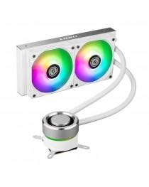 LIAN LIGALAHAD AIO240 RGB White- Dual 120mm Addressable RGB FANS