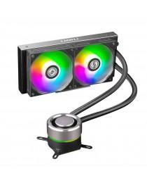 LIAN GALAHAD AIO240 RGB Black - Dual 120mm Addressable RGB